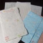 便箋と封筒